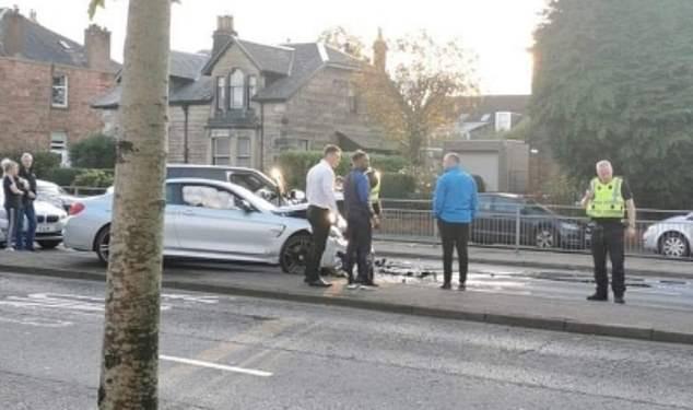 Footballer Jermain Defoe involved in three-car crash in Scotland (Photos)