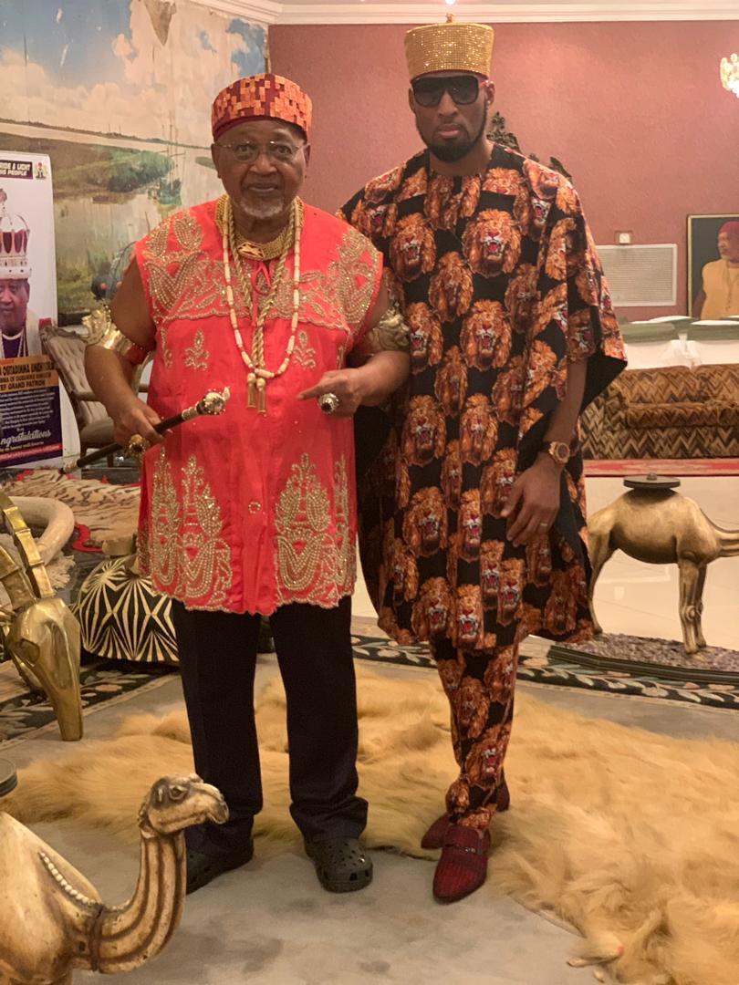 Billionaire businessman, Dilly Umenyiora shares rare photos of his father, King John Umenyiora