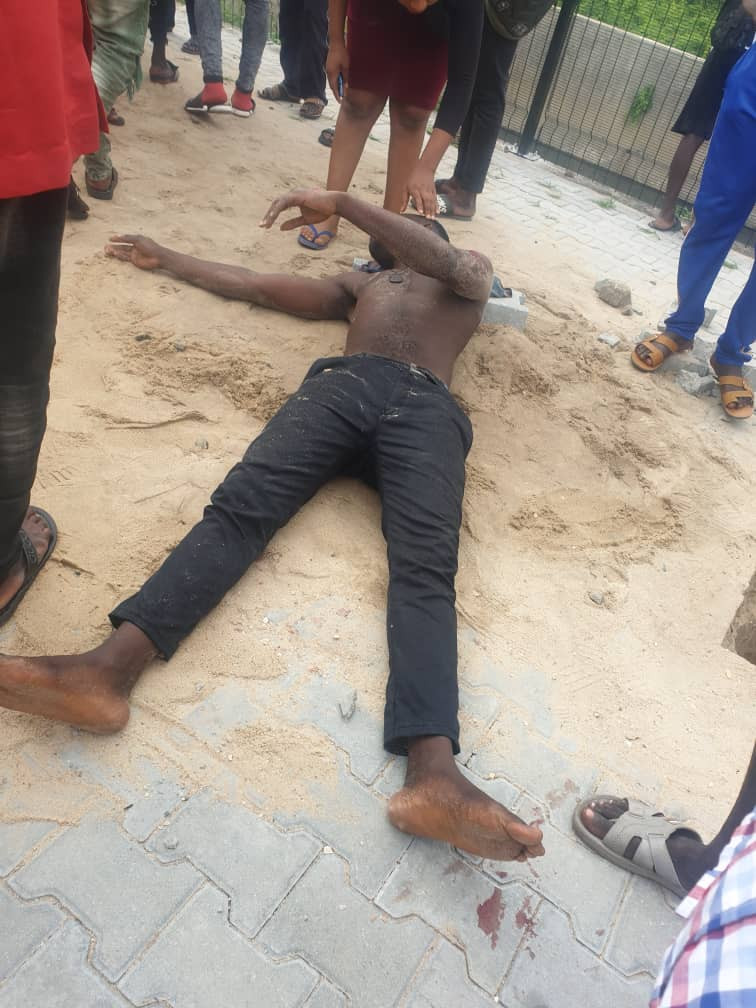 Car wash staff suffers accident in Lekki with client