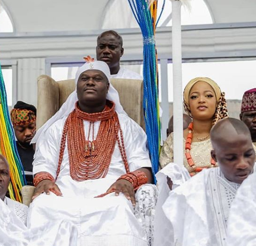 Photos: Ooni of Ife rocks?the official ceremonial outfit from time immemorial to celebrate