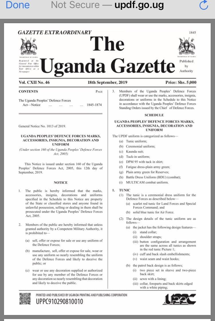 Uganda bans wearing of Bobi Wine
