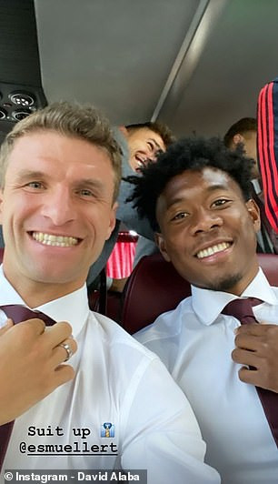 Bayern Munich stars looking dapper in suits as they arrive London to face Tottenham in UEFA Champions League (photos))
