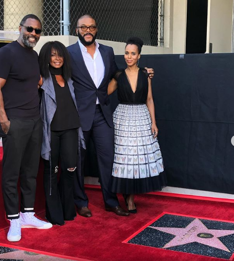 Tyler Perry gets a star on the Hollywood Walk of Fame and dedicates it to the