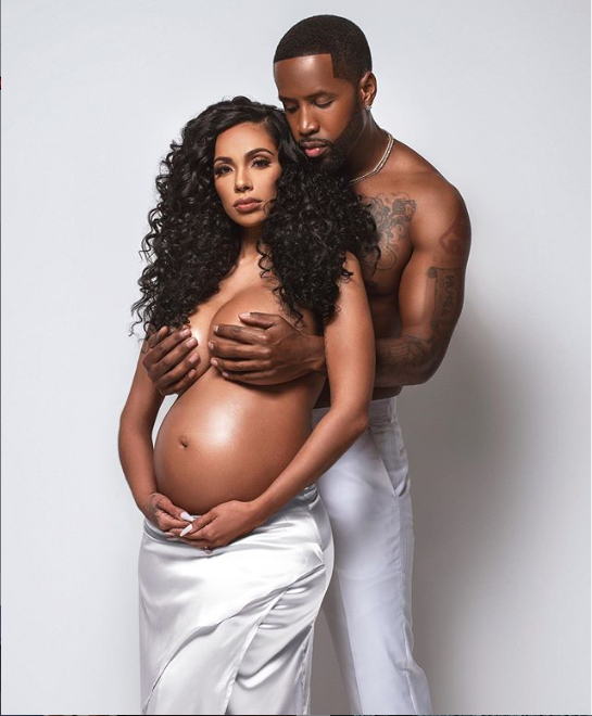 Erica Mena poses topless in her maternity shoot with Safaree Samuels?(Photo)