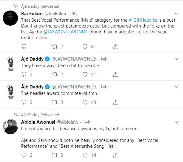 The Headies award committee have always been shit to me - Jaywon rants