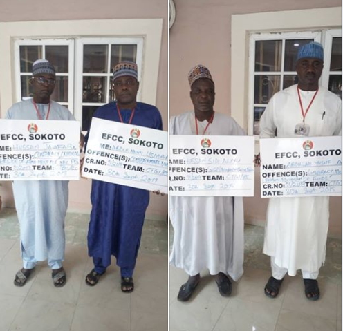 EFCC arrests four?INEC officials?for an alleged case of conspiracy, breach of trust and criminal diversion of?N84million