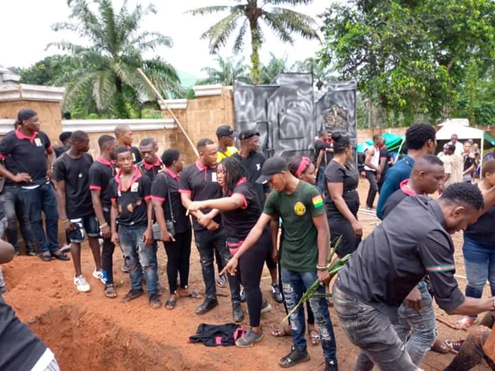 Grief, anger at the burial of 28-year-old South Africa-based Nigerian man shot dead by unknown gunmen in Anambra