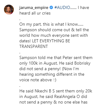 BBNaija: Jaruma, Nkechi Blessing Sunday and Uche Elendu calls out Tacha