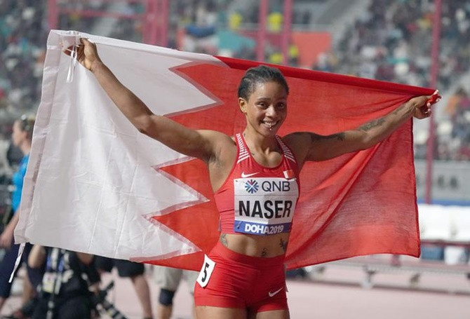 Image result for Nigerian-Born Salwa Eid Naser Runs Third Fastest Time In History To Win 400m World Title For Bahrain, Ebuka Reacts