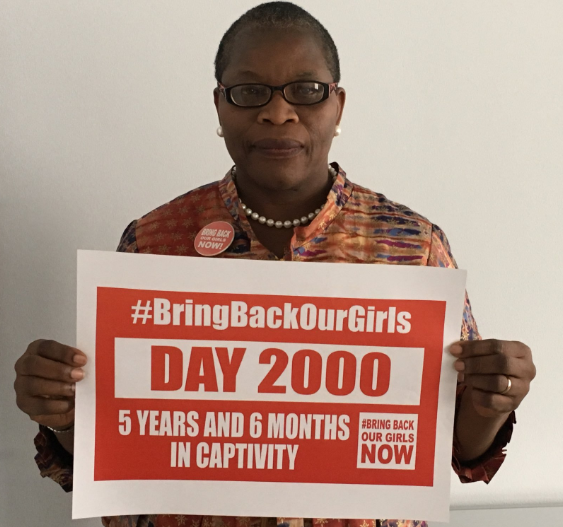 Image result for images of Oby Ezekwesili, Odinkalu call for the release of Chibok girls 2,000 days after they were abducted