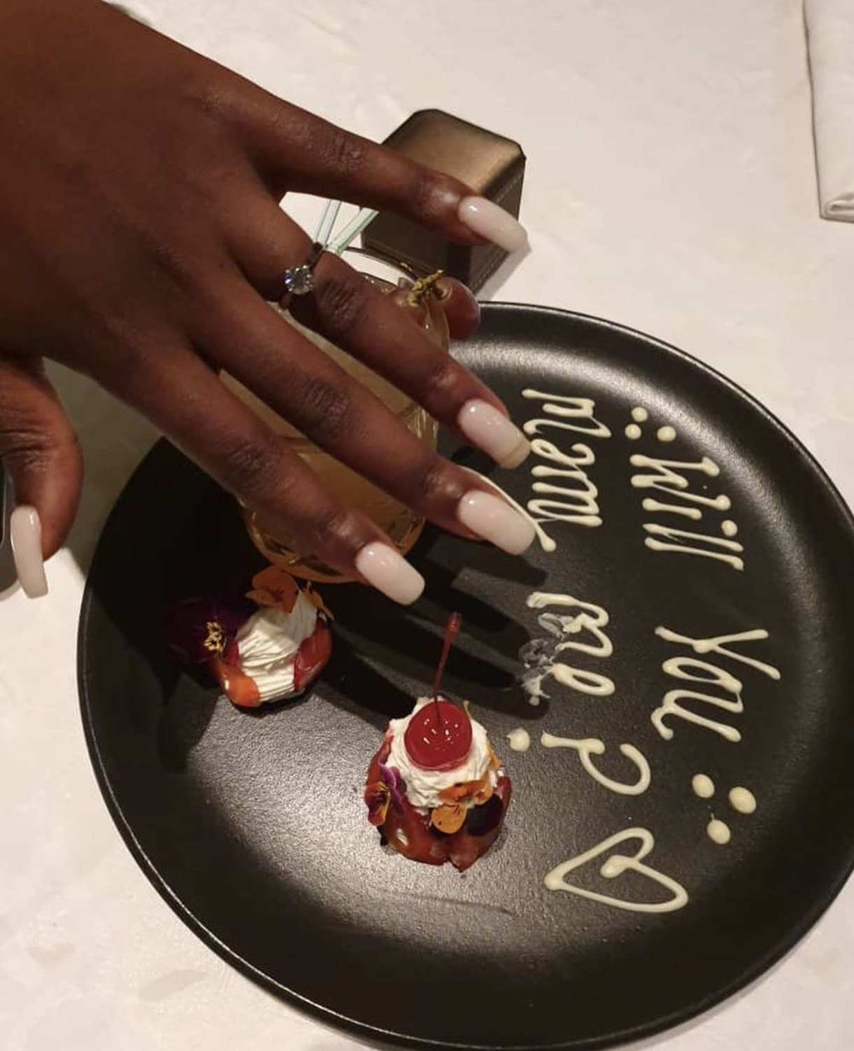 Zimbabwean TV personality Vimbai Mutinhiri & boyfriend, Dru Ekpenyong, are engaged (photos)