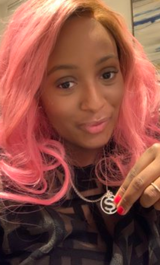 Anthony Joshua gifts DJ Cuppy a customized neck-piece (Photos)