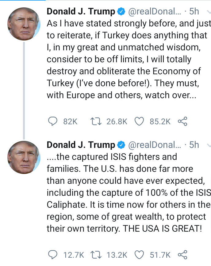 If Turkey does anything that I consider to be off limits, I will destroy and obliterate their economy