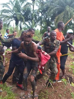 """Notorious criminal """"Fear Not"""" caught three days after he disarmed a soldier attached to Ebonyi State Governor (photos)"""