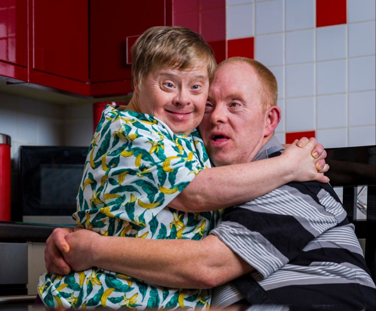 Heartwarming photos of a couple with Down Syndrome that have been married for 27 years