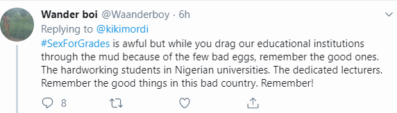 Nigerian Twitter users call out BBC for the sex for grades expos?