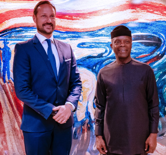 Vice-President, Yemi Osinbajo?meets with H.R.H Crown Prince Haakon of Norway (Photos)