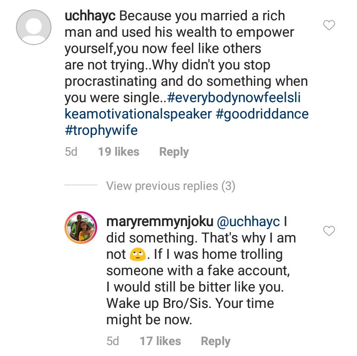Mary Remmy Njoku forced to defend herself after followers dragged her for a post she made