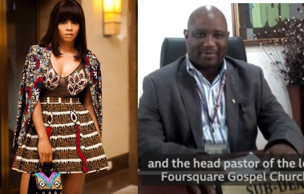 Toke Makinwa reacts as #sexforgrades lecturer, Boniface Igbenehue
