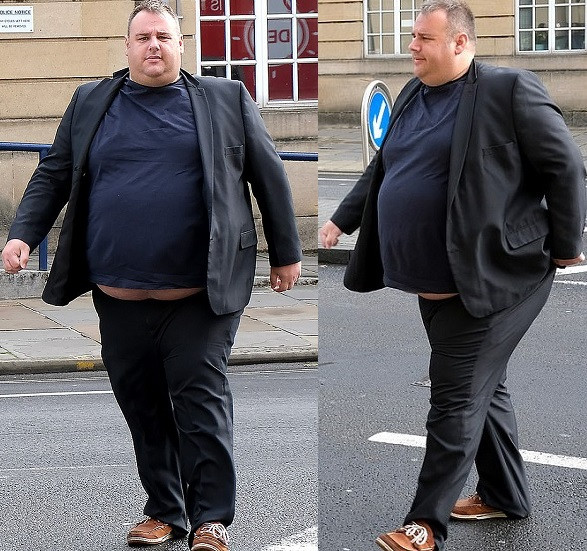 Obese man who calls himself 'big cuddly bear 'raped a woman he met on dating site after she rejected him for being too fat' (Photos)