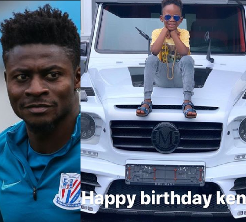 Obafemi Martins releases cute photo of his son Kendrick as he celebrates him on his birthday