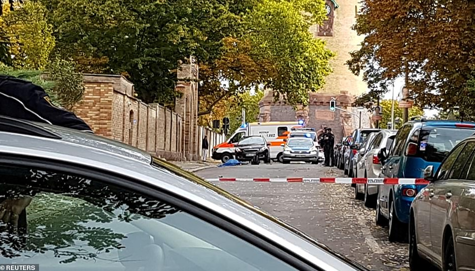 Two people killed, several injured as gunmen open fire near German synagogue before throwing a grenade at Jewish cemetery