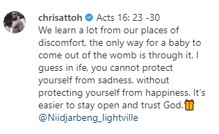 Chris Attoh returns to social media five months after the death of his second wife, says