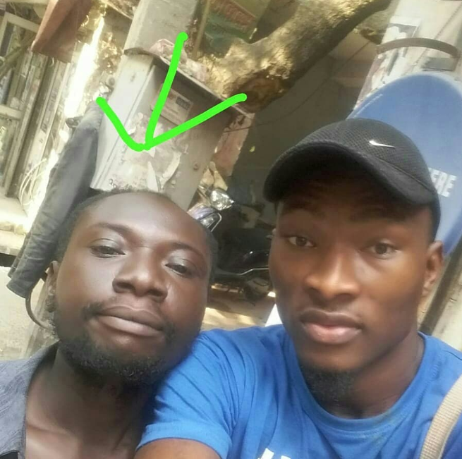 Homeless Nigerian man, alleged to be mentally unstable, seen in a market in New Delhi India (video)