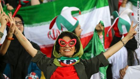 Iranian women allowed into a football field for the first in 40 years! Iranian team beats Cambodia 14-0