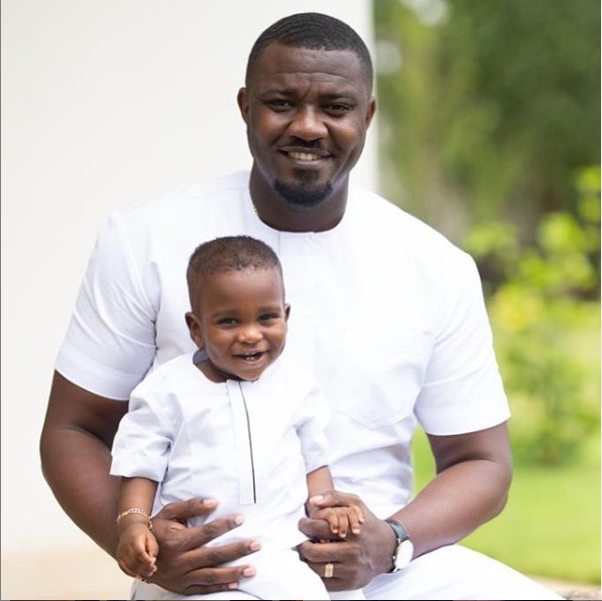 John Dumelo and wife Gifty celebrate their son John Dumelo Jnr