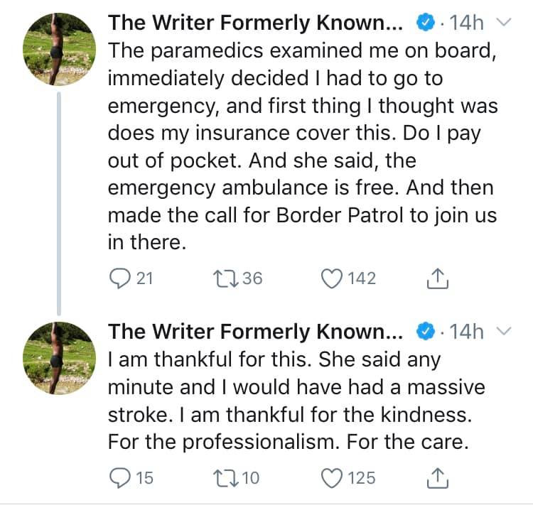 Nigerian novelist, Elnathan John suffers a near-stroke experience on a flight