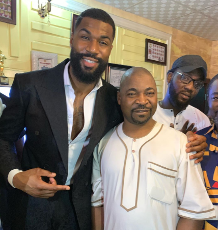 Ex-BBNaija housemate, Mike finally meets MC Oluomo in Lagos (Photos)