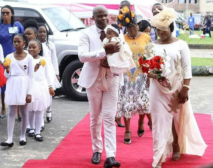 Ex-Catholic Priest who got married dedicates his child in Akwa Ibom (photos)