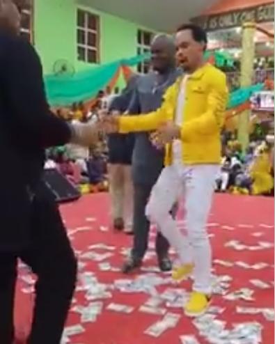 Pastor Emeka Odumejeje joins dancers to choreograph to Peter Okoye