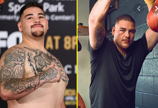 Andy Ruiz Jr shows off dramatic body transformation and warns Anthony Joshua he will be ?lighter, faster and more powerful? (photo)