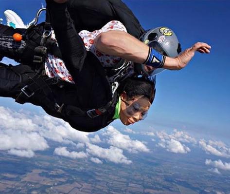 Ex-BBNaija housemate Nina shares photos from her skydiving experience