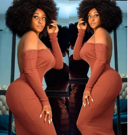 Nollywood actress, Ini Edo flaunts her curves in her