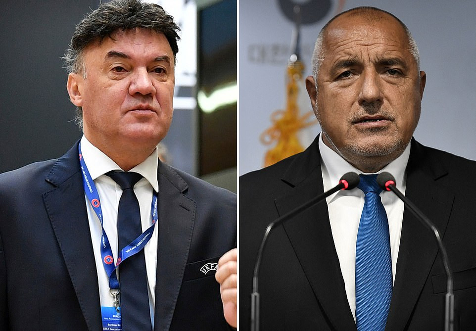 Bulgaria's prime minister demands the country's FA president resigns after racist chants at black England footballers
