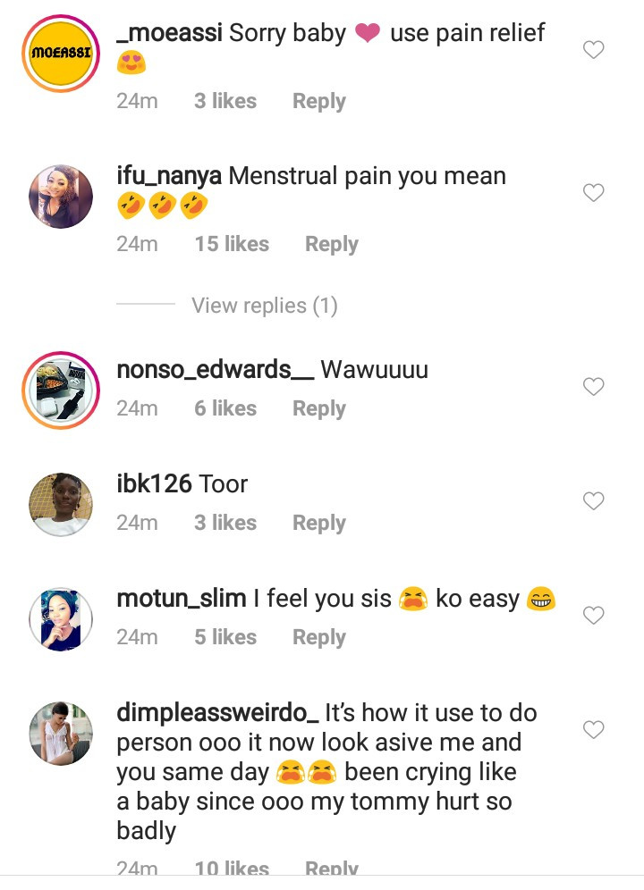 "Instagram users hilariously reply Bobrisky after he said he ""woke up with menstrual pain"""