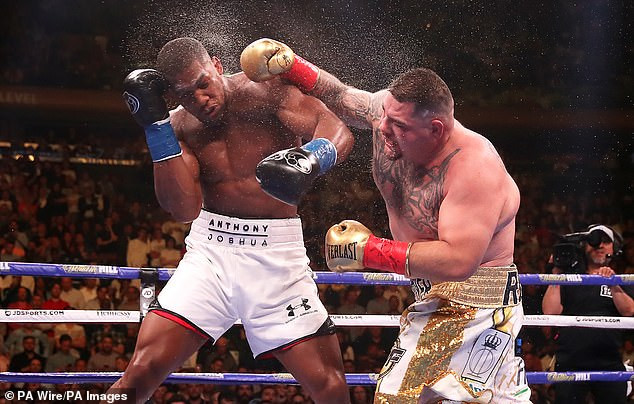 Anthony Joshua has been training for a month with chubby fighters like Andy Ruiz - Joshua