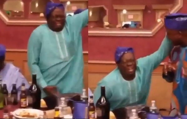 Nigerian father spotted dancing