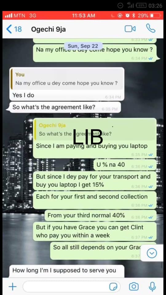 Nigerian lady who said she was raped after she traveled to Ghana to learn forex from a classmate, allegedly went to learn yahoo-yahoo (read chats)