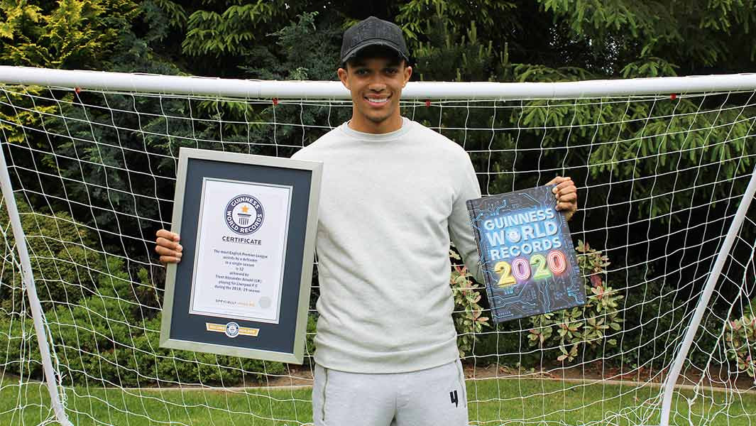 Liverpool defender Trent Alexander-Arnold bags Guinness World Record for most assists in a single season?(Photos)