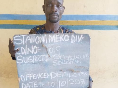 Man arrested after his daughter reported him to her teacher for defiling her