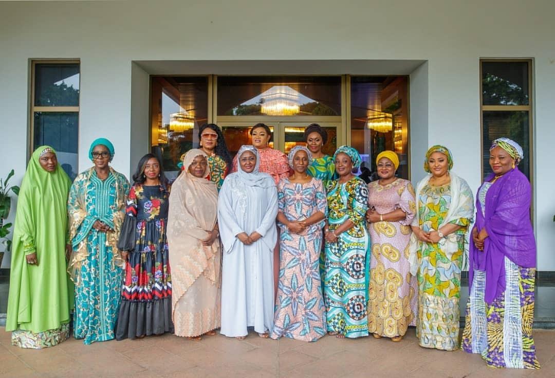 Wives of state governor, Senators, others pay Aisha Buhari courtesy visit