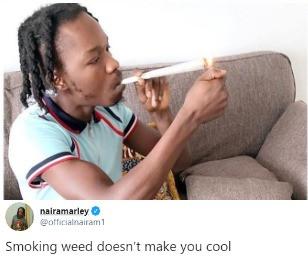 'Smoking weed doesn't make you cool'' Naira Marley