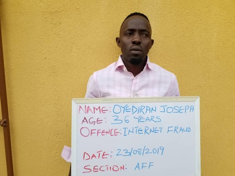 FBI suspect, Oyediran bags one year imprisonment
