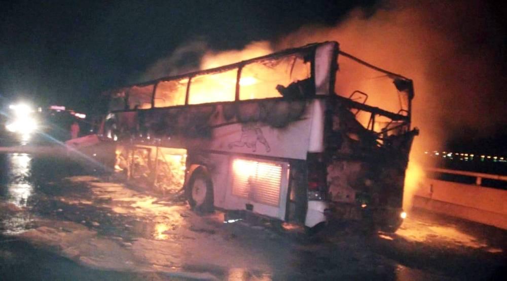 35 expatriate Umrah pilgrims burnt to death in Saudi Arabia bus crash (Photos)