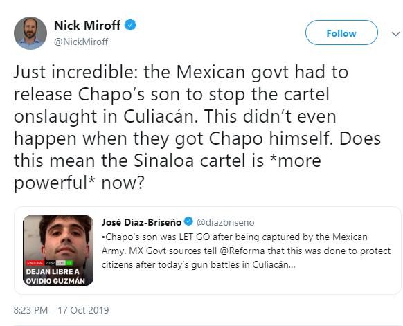 Update: El Chapo
