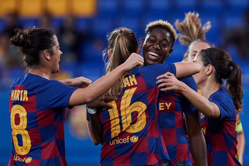 Asisat Oshoala shines as Barcelona thrash Minsk 5 -0 in Women
